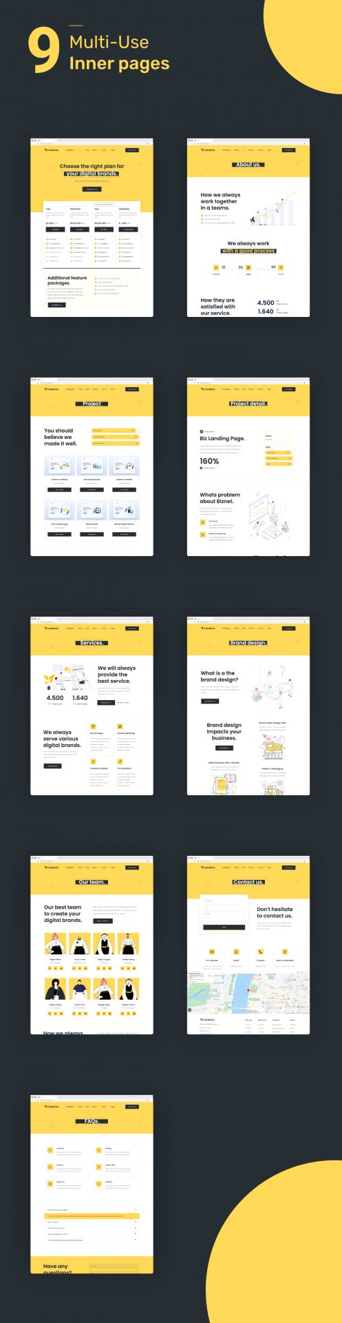 Creativic - Creative Agency Elementor Template Kit - 2