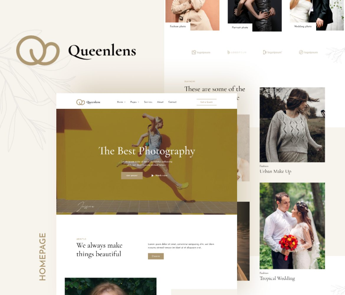 Queenlens | Photography & Event Elementor Template Kit - 1