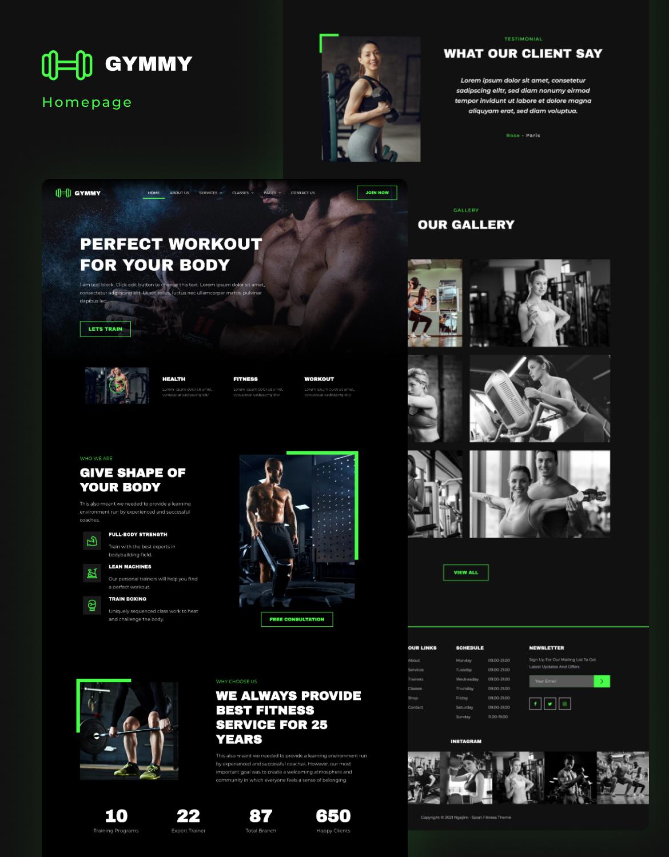 Gymmy | Sport & Fitness Elementor Template Kit - 1