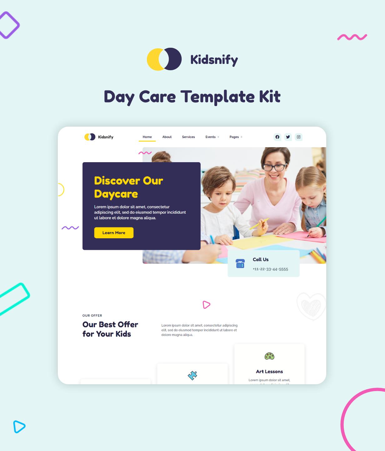 Kidsnify   Daycare Elementor Template Kit - 1